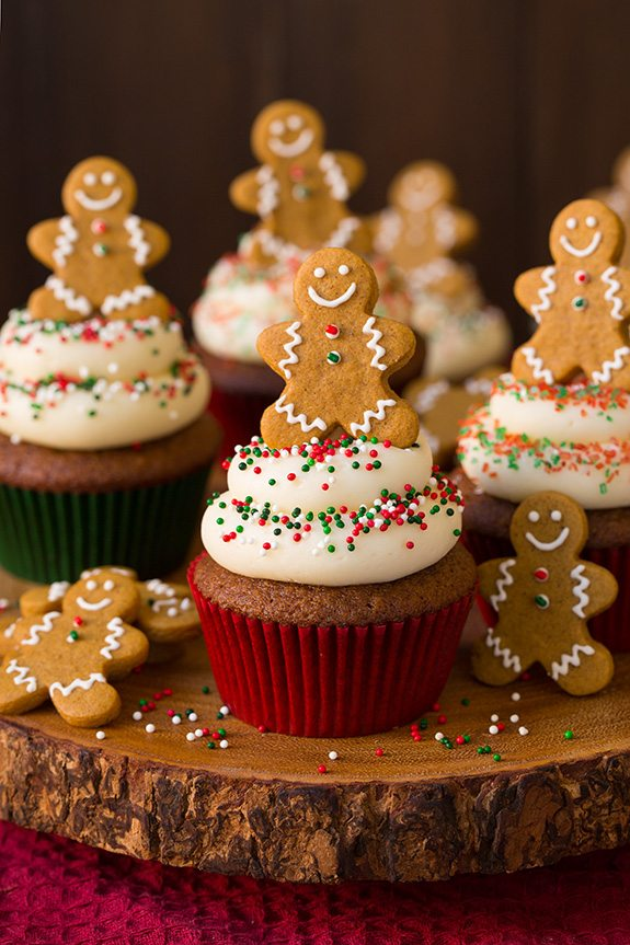 Gingerbread Cupcakes with Cream Cheese Frosting - Cooking Classy