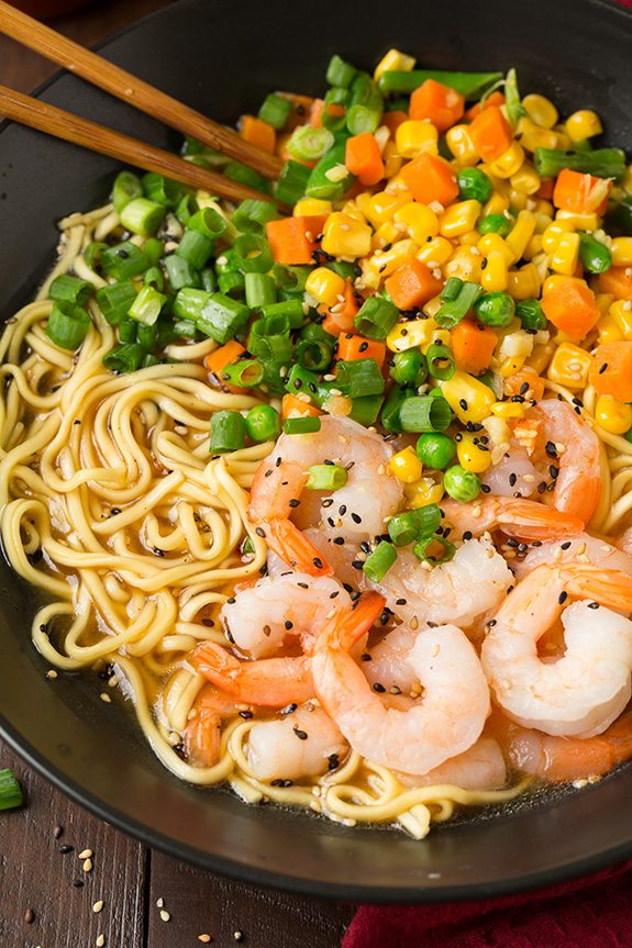 Easy Miso Shrimp and Veggie Ramen | Cooking Classy