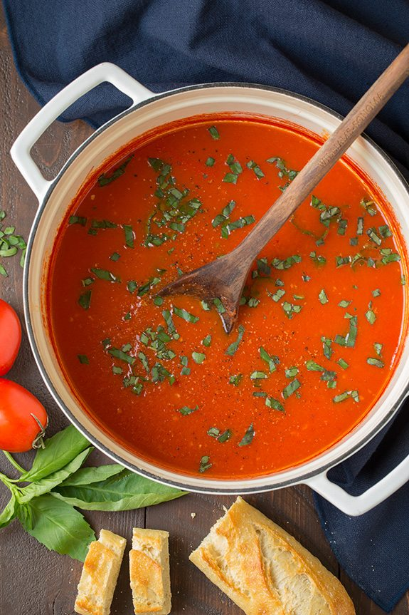 Easy Tomato Soup in Pot