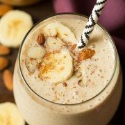 Almond Banana Flax Smoothie | Cooking Classy