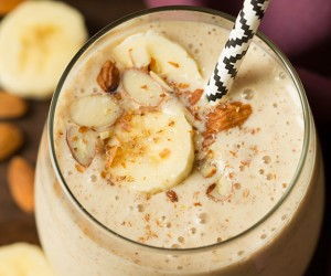 Almond Banana Flax Smoothie   Cooking Classy