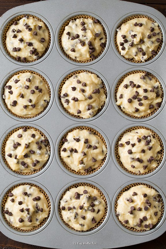 Bakery Style Chocolate Chip Muffins | Cooking Classy.