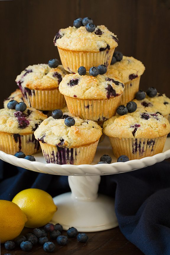 Bakery Style Lemon Blueberry Muffins - Cooking Classy