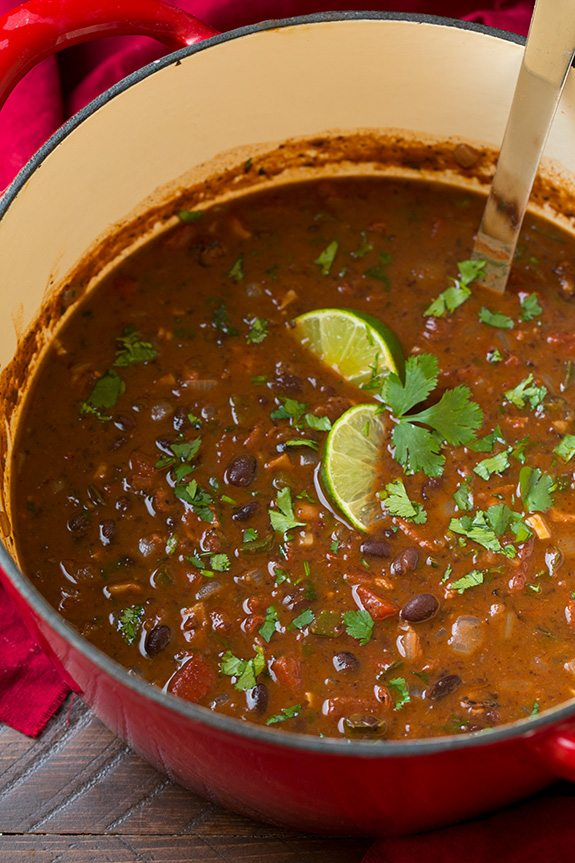 black bean curry soup