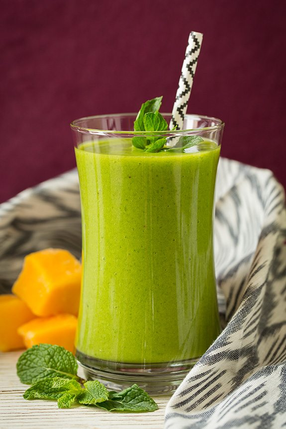 Mango Green Tea Smoothie - Cooking Classy