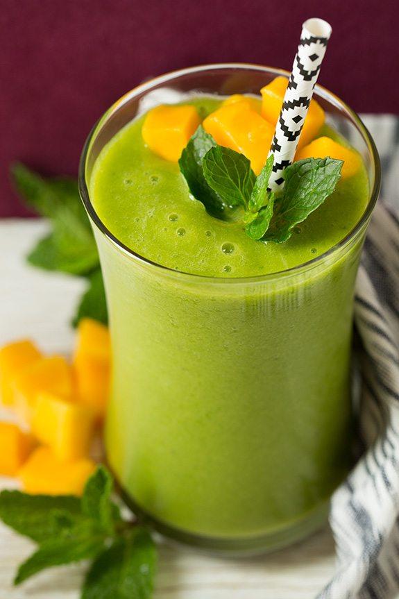 Mango Green Tea Smoothie - Cooking Classy