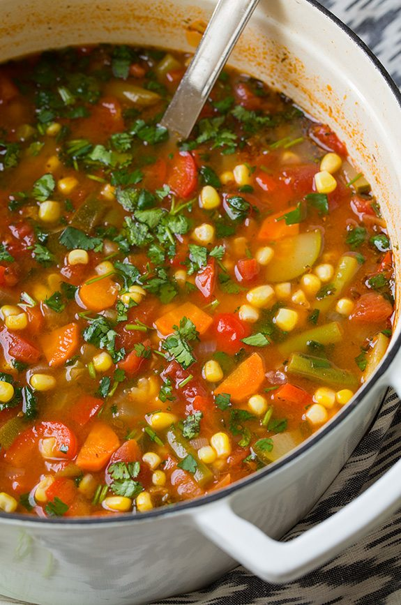Mexican Vegetable Soup Cooking Classy