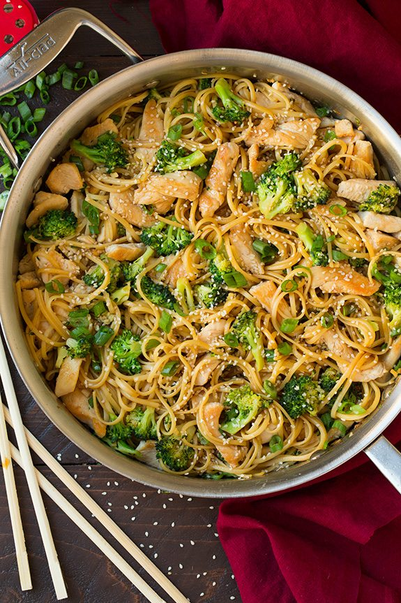 Sesame Noodles With Chicken And Broccoli Cooking Classy