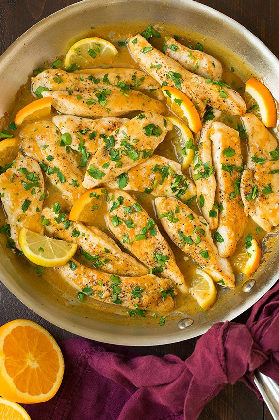 Skillet Citrus Chicken Tenders | Cooking Classy