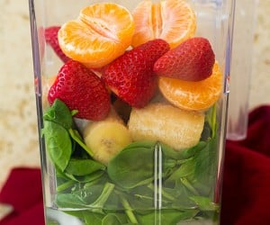 Strawberry Spinach Green Smoothie | Cooking Classy