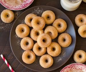 Baked Cinnamon Sugar Mini Donuts | Cooking Classy