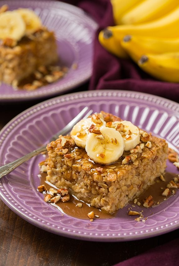Banana Pecan Baked Oatmeal | Cooking Classy