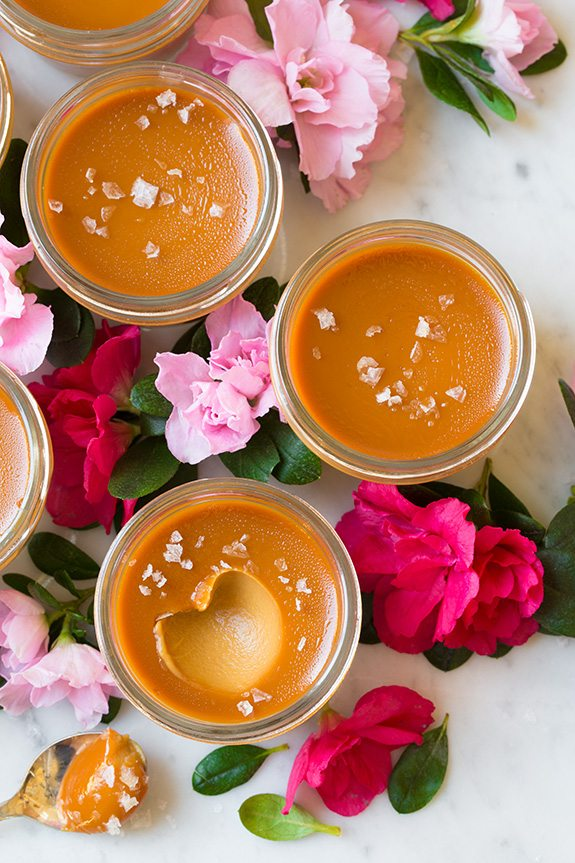 Salted Caramel Pots de Creme