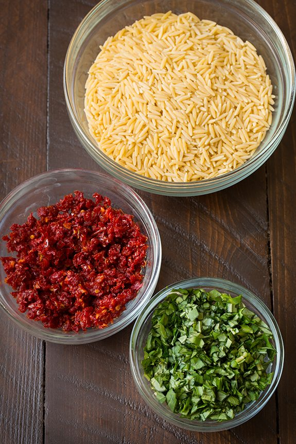 Sun Dried Tomato Basil and Parmesan Orzo with Chicken   Cooking Classy