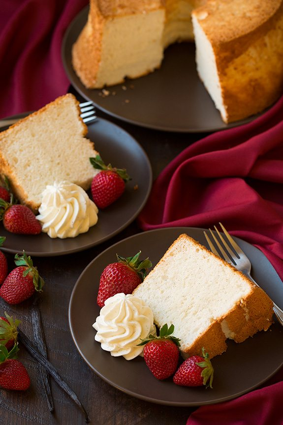 Vanilla Bean Angel Food Cake | Cooking Classy