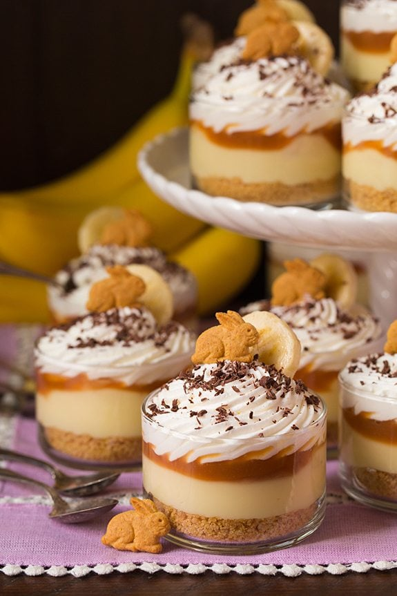 Banana Cream Pie Cups With Salted Caramel Sauce Cooking