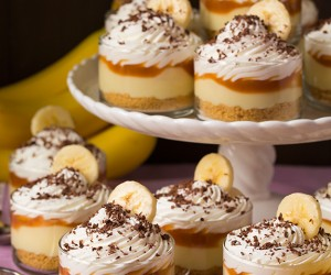Banana Cream Pie Cups with Salted Caramel Sauce | Cooking Classy