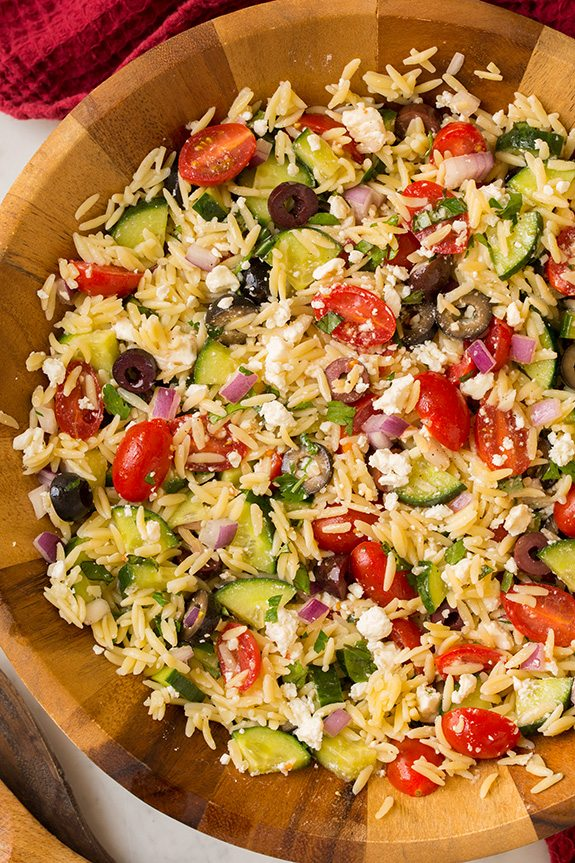 Greek Orzo Salad | Cooking Classy