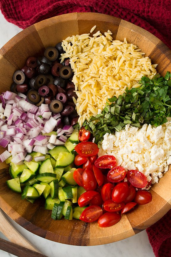 Greek Orzo Salad - Cooking Classy
