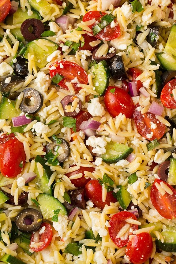 Greek Orzo Salad With Feta - Cooking Classy