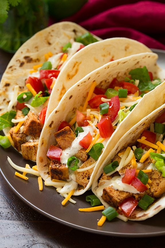 Grilled Chicken Tacos With Cilantro Lime Ranch Cooking Classy