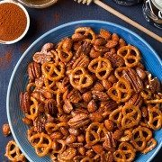 Chipotle-Honey Nut and Pretzel Mix | Cooking Classy