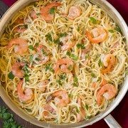 One Pan Creamy Parmesan Linguine with Shrimp | Cooking Classy