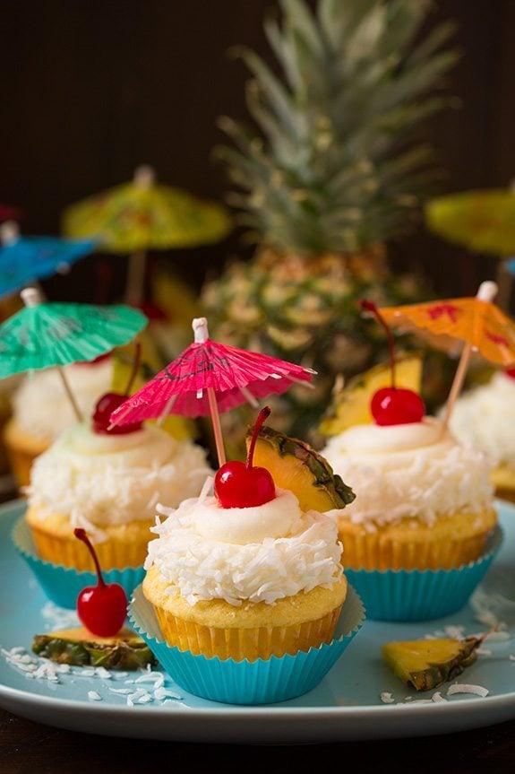 Piña Colada Cupcakes | Cooking Classy