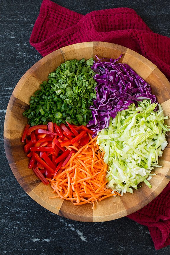 Thai Slaw with Peanut Dressing | Cooking Classy