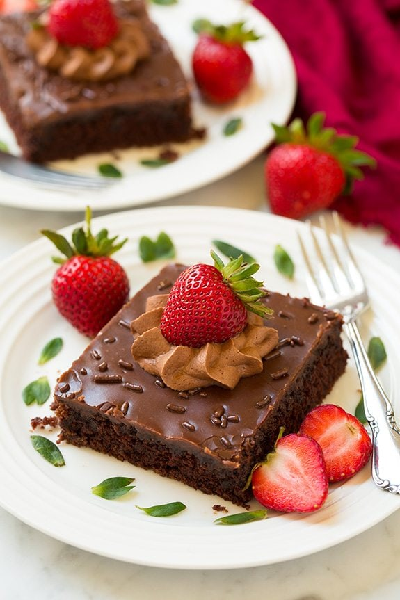 Chocolate Sheet Cake | Cooking Classy