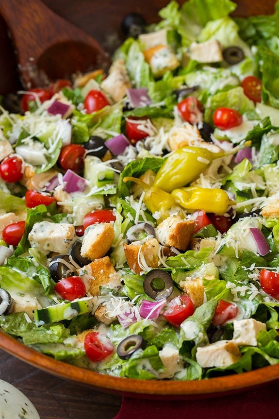 Grilled Chicken Chopped Salad with Italian Dressing | Cooking Classy