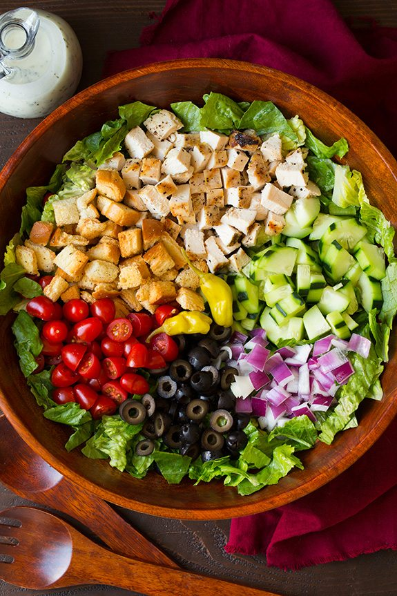 Grilled Chicken Chopped Salad with Italian Dressing