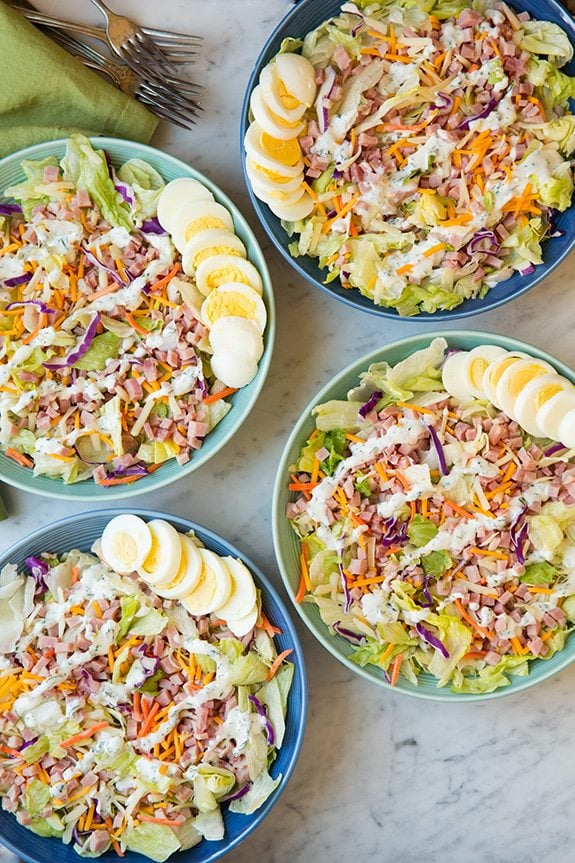 Ham and Cheese Salad with Homemade Ranch   Cooking Classy