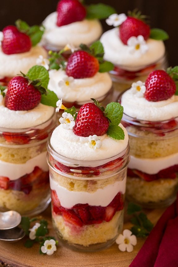 Strawberry Cake In A Jar