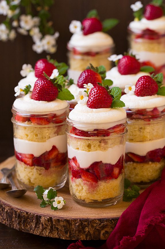 Strawberry Shortcake Trifles | Cooking Classy.