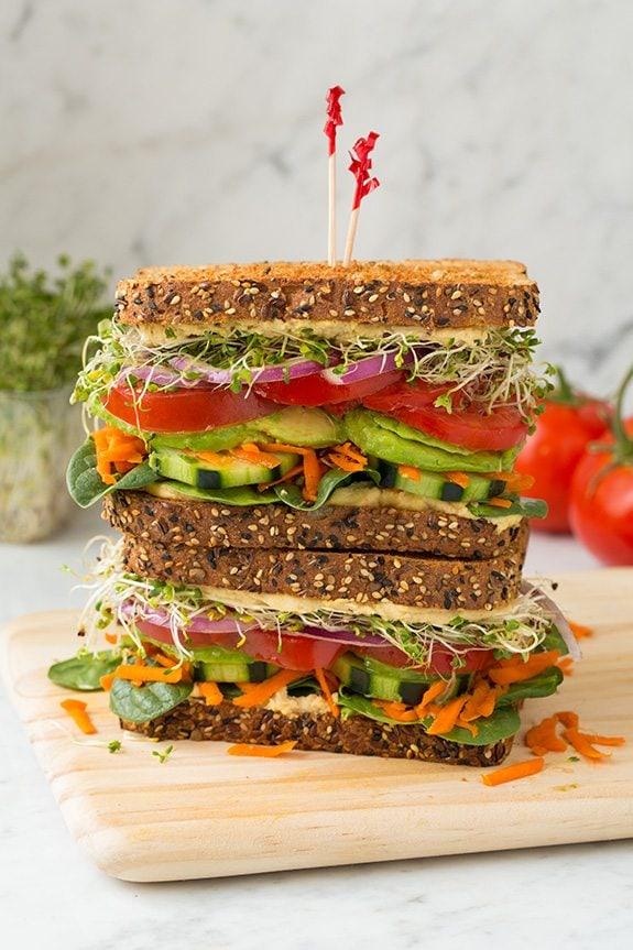Veggie and Hummus Sandwich | Cooking Classy..