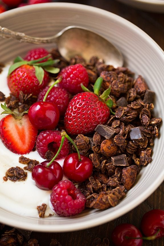 Chocolate Almond Granola | Cooking Classy