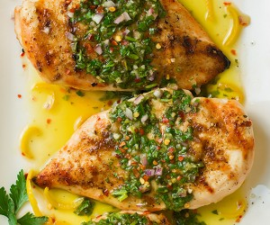 Cumin Rubbed Grilled Chicken with Chimichurri Sauce | Cooking Classy