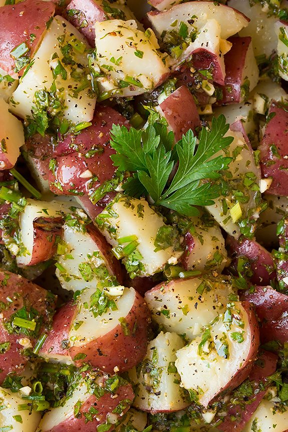 Garlic Herb Potato Salad | Cooking Classy