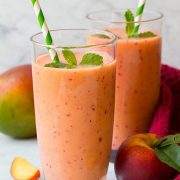 Mango Peach Strawberry Smoothie | Cooking Classy