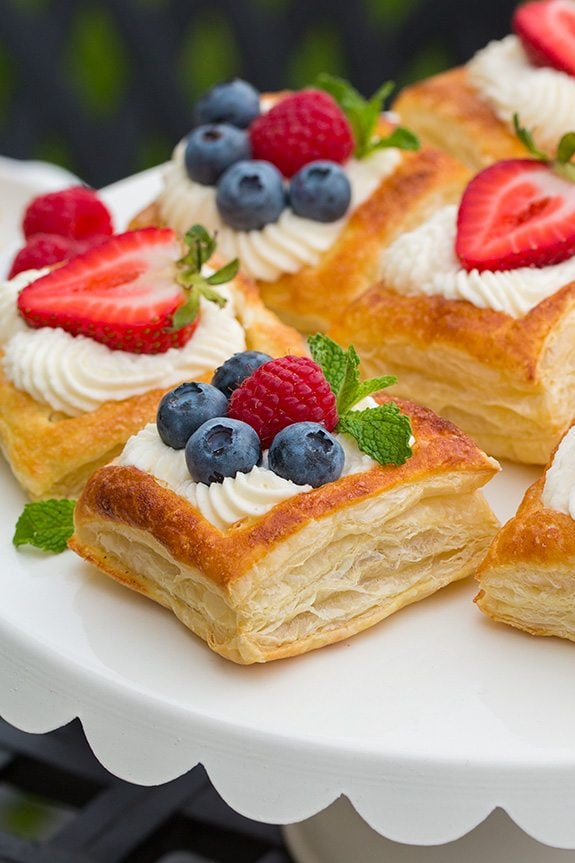 fruit pizza puff pastry fruit tart