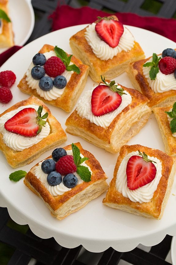 Puff Pastry Fruit Tarts with Ricotta Cream Filling | Cooking Classy