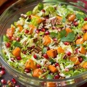 Shredded Brussels Sprout and Pomegranate Salad | Cooking Classy