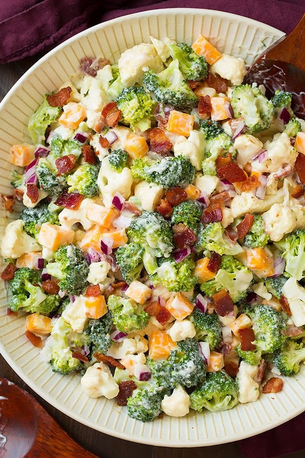 Broccoli and Cauliflower Salad | Cooking Classy