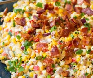 Creamy Confetti Corn with Bacon | Cooking Classy