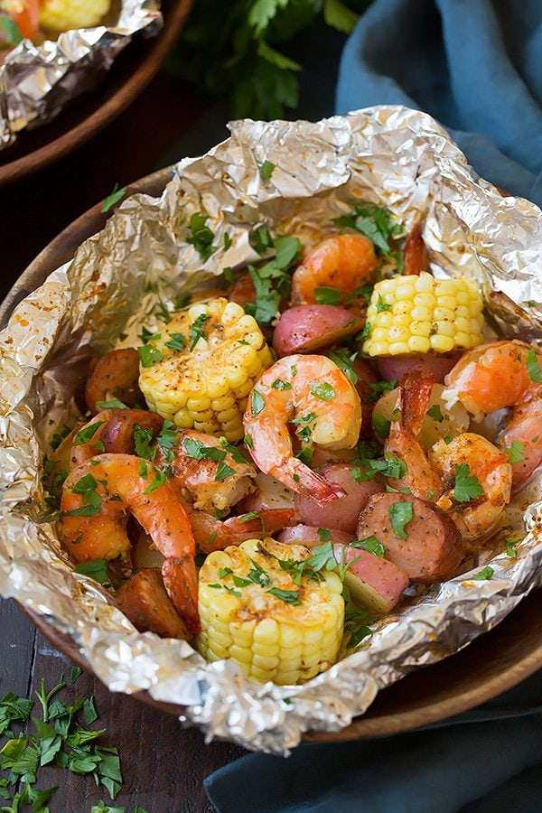 Grilled Seafood Packets Recipes — Dishmaps