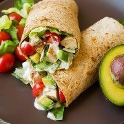 Chicken Avocado Caesar Salad Wrap | Cooking Classy