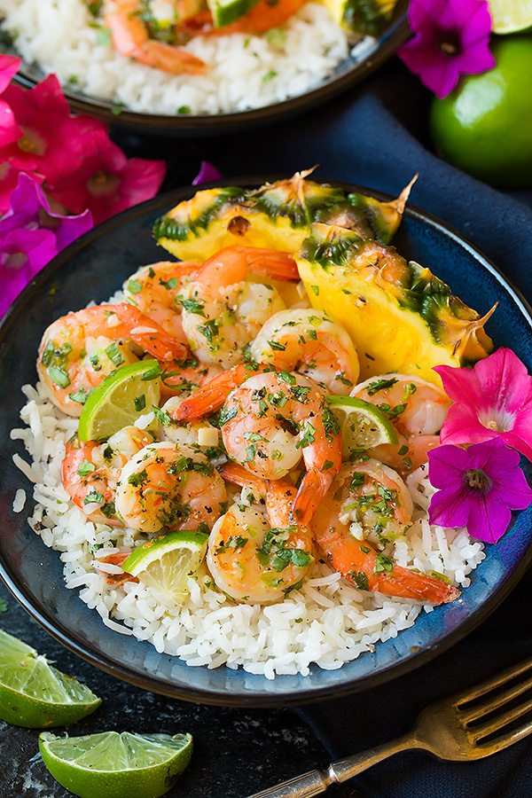 Cilantro Lime Shrimp with Coconut Rice | Cooking Classy