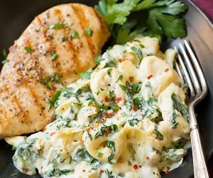 Creamy Spinach Artichoke Tortellini   Cooking Classy