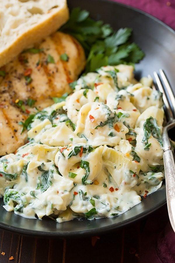Creamy Spinach Artichoke Tortellini | Cooking Classy